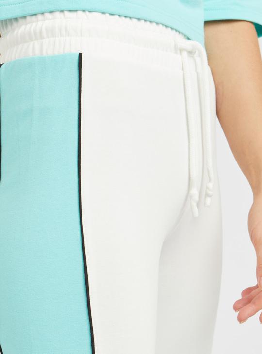 Colour Block Jog Pants with Drawstring