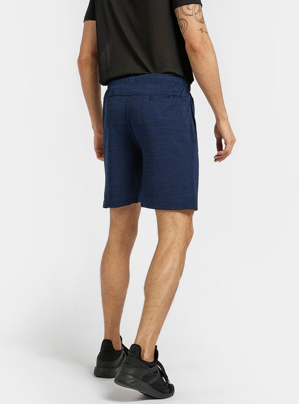 Solid Shorts with Pocket Detail and Elasticised Waistband