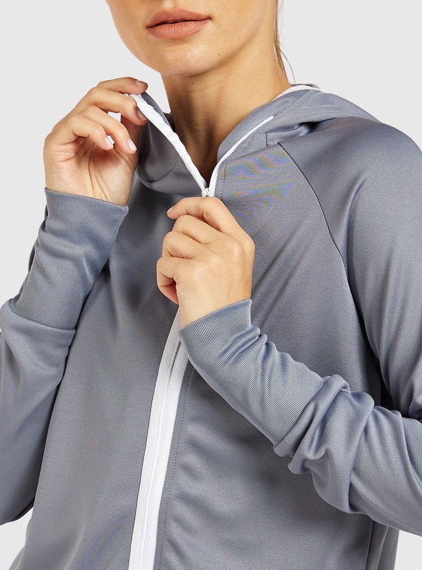 Solid Hooded Sweatshirt with Long Sleeves