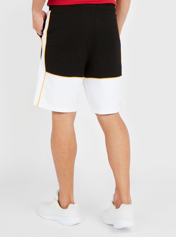 Embroidered Shorts with Pocket Detail and Drawstring