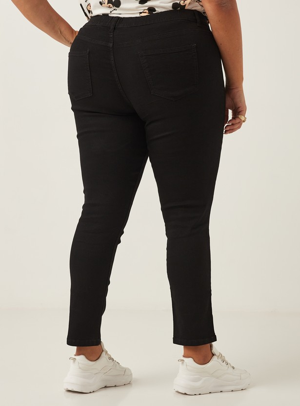 Full Length High-Rise Skinny Jeggings with Elasticised Waistband