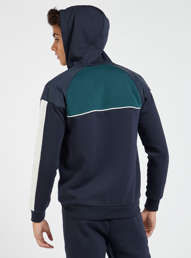 Solid Long Sleeves Jacket with Hood and Pockets