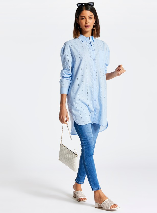 Skinny Fit Mid-Rise Jeans with Pocket Detail