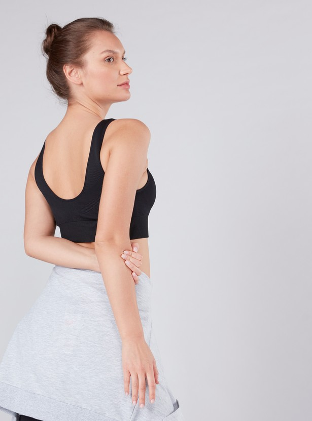 Textured Seamless Sports Bra