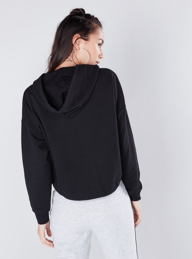Oversize Fit Hoodie with Long Sleeves