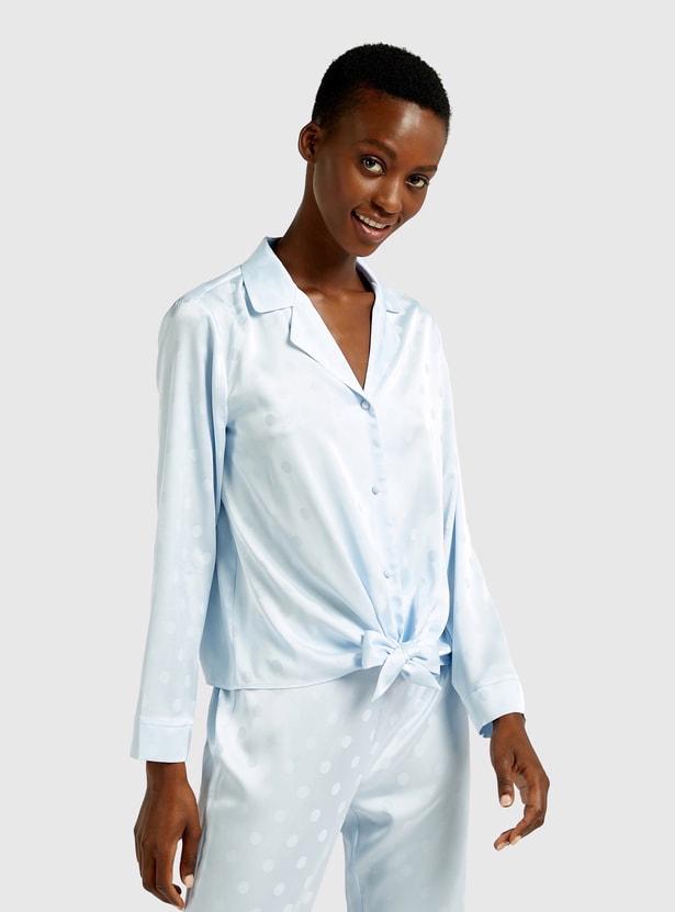 All-Over Print Long Sleeves Sleepshirt and Pyjama Set