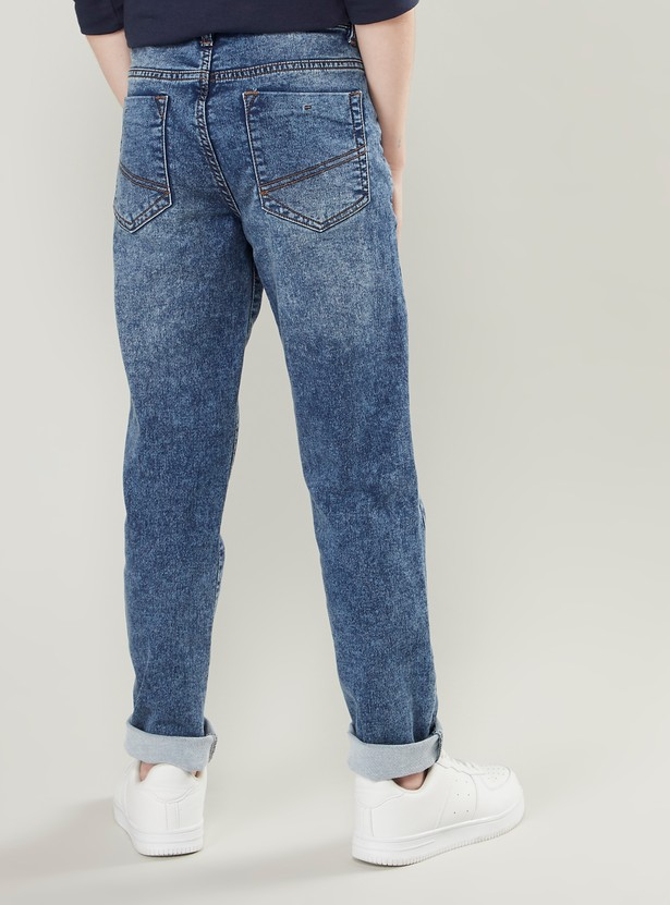 Full Length Jeans with Pocket Detail