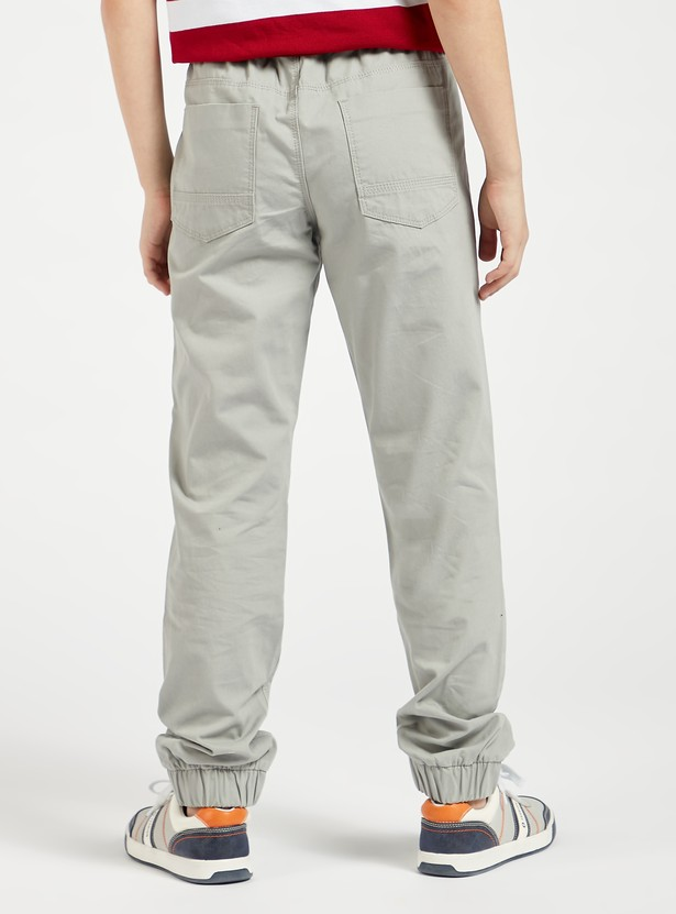 Solid Full Length Joggers with Drawstring Closure and Pockets