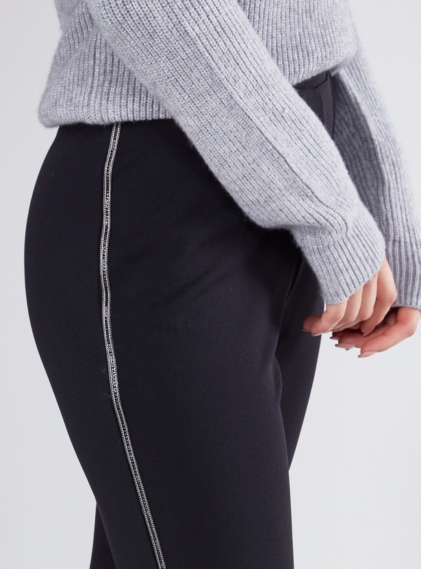 Full Length Pants with Side Tape Detail