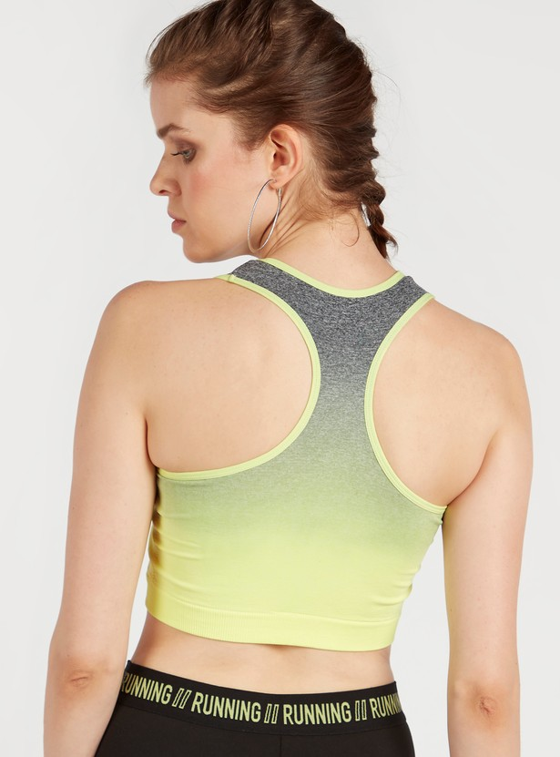 Ombre Seamless Medium Support Sports Bra with Racerback