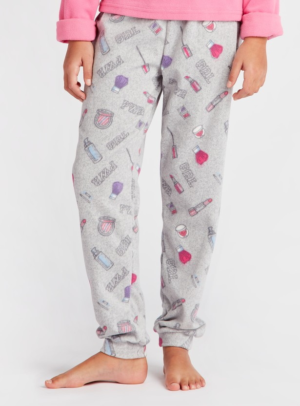 Cozy Collection Print Long Sleeves T-shirt and Full Length Pyjama Set