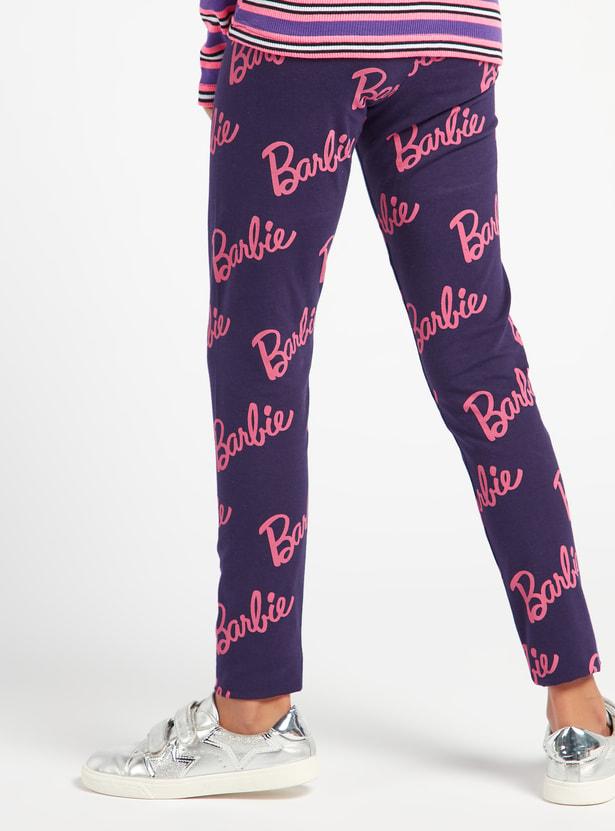 Full Length All-Over Barbie Print Leggings with Elasticised Waistband