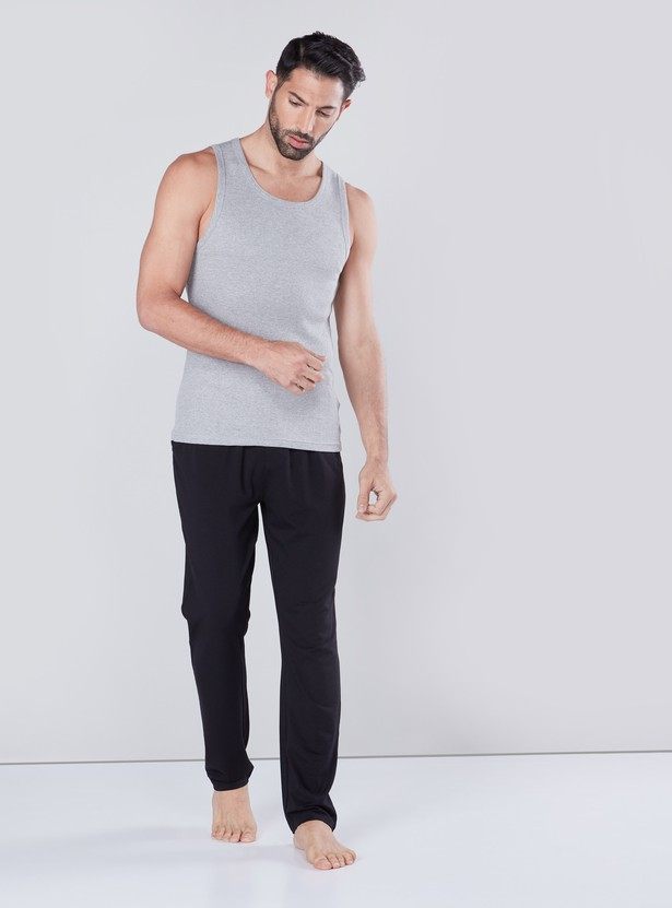 Ribbed Vest with Scoop Neck