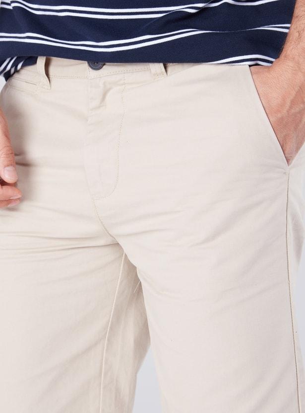 Knee Length Shorts in Regular Fit