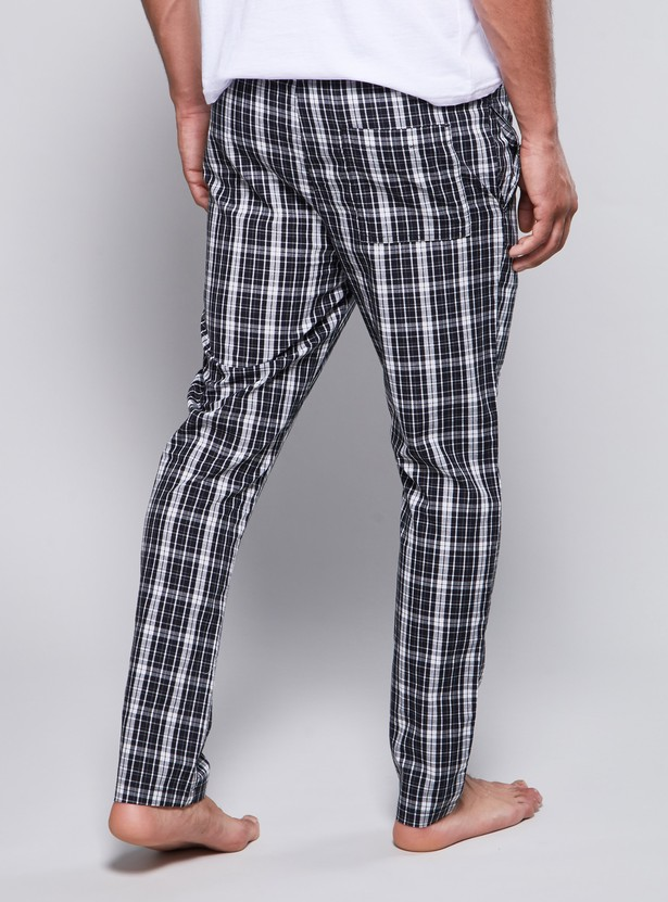 Checked Pyjamas with Drawstring Waistband