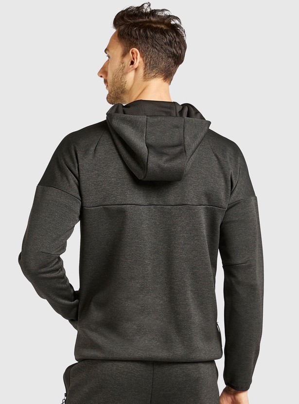 Solid Jacket with Zip Closure and Pockets