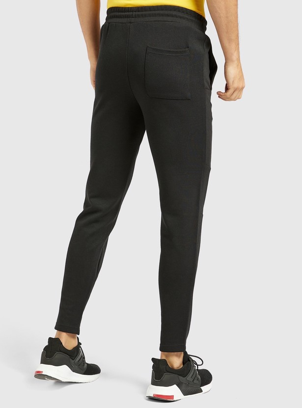 Slim Fit Solid Jog Pants with Pocket Detail and Drawstring