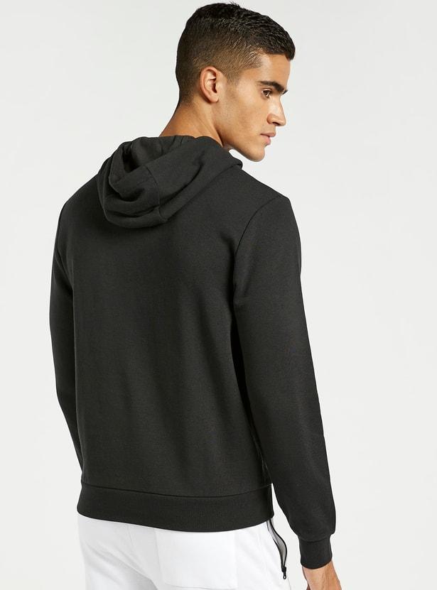 Graphic Print Hoodie with Long Sleeves and Kangaroo Pockets