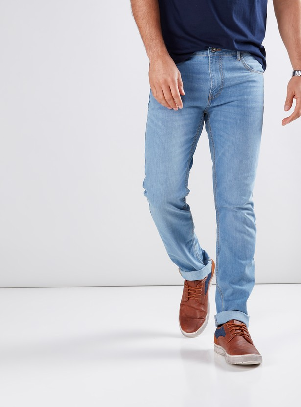 Full Length Jeans in Slim Fit with Pocket Detail