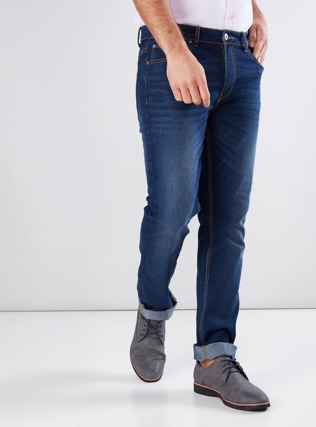 Pocket Detail Jeans in Slim Fit