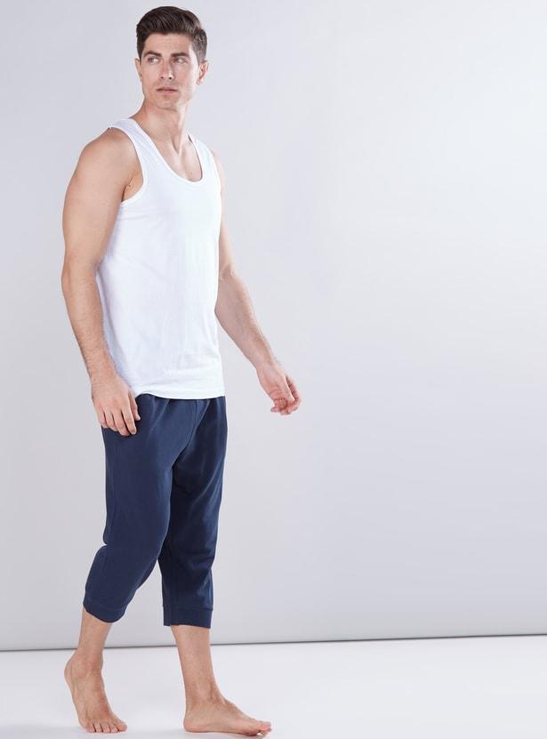 Pocket Detail 3/4 Pants with Drawstring
