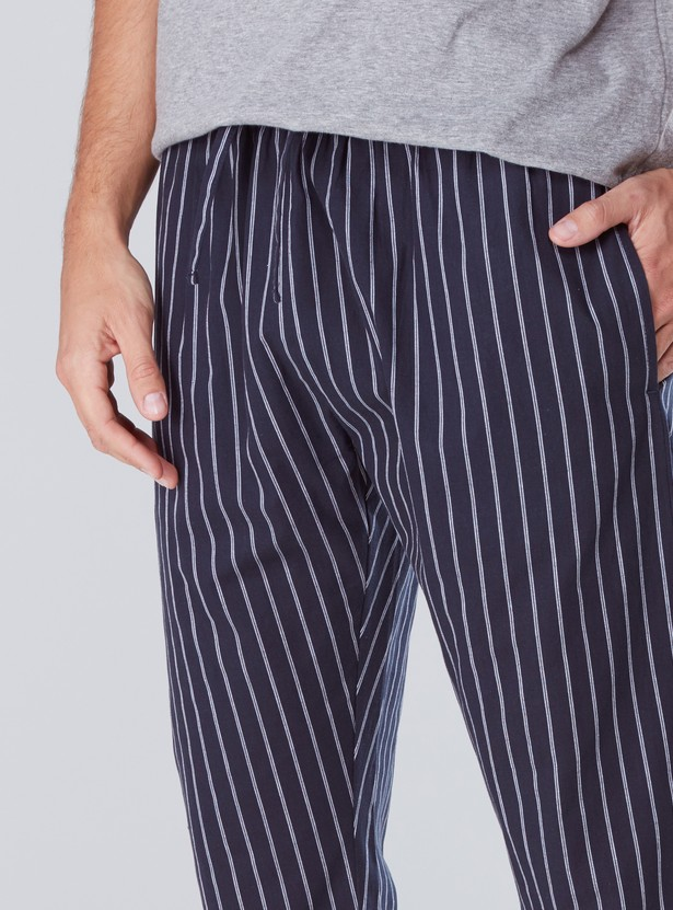 Striped Pyjamas with Pocket Detail