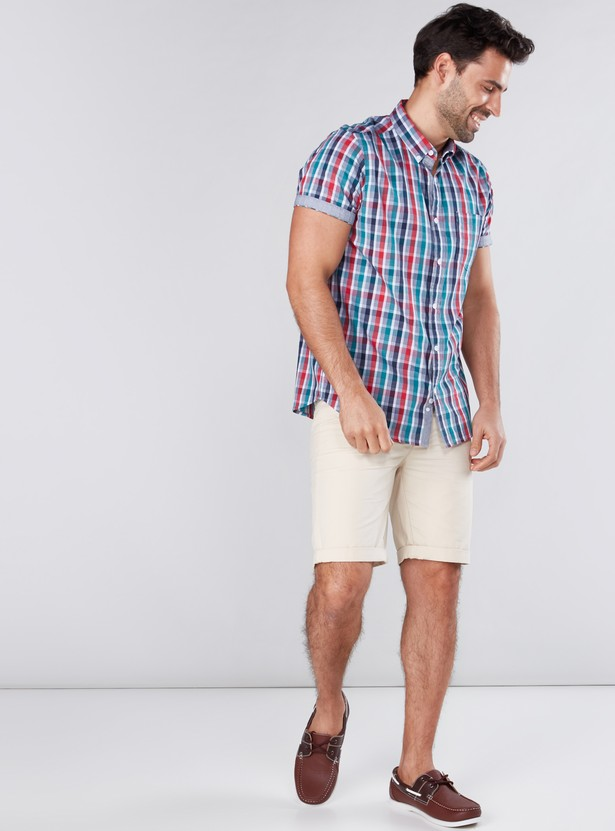 Chequered Shirt with Short Sleeves