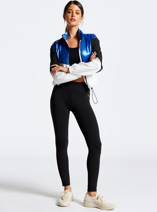 Quick Dry Full Length Mid-Waist Activewear Leggings with Elasticised Waistband