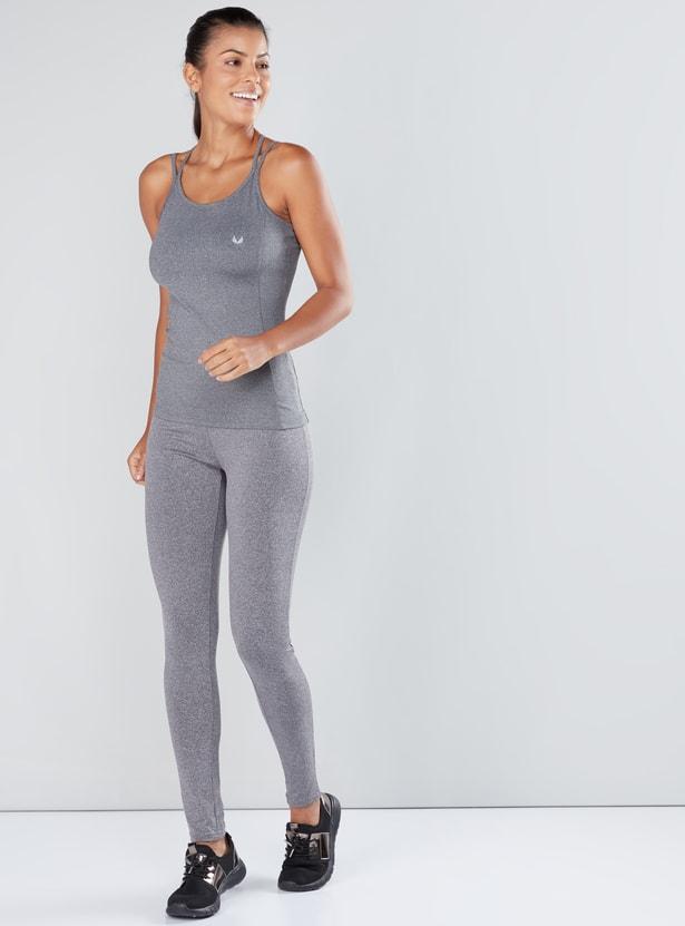 Melange Full Length Leggings with Elasticised Waistband