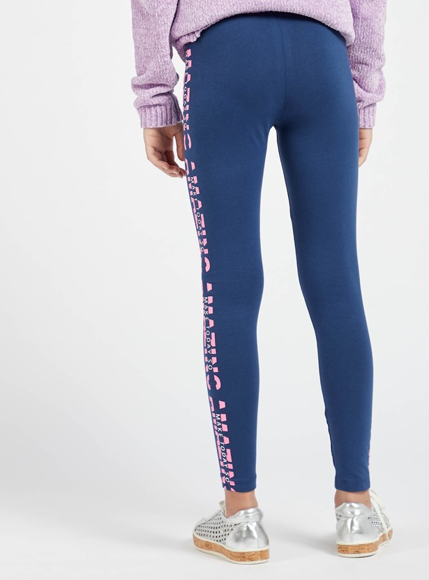 Printed Full Length Skinny Fit Leggings with Elasticised Waistband