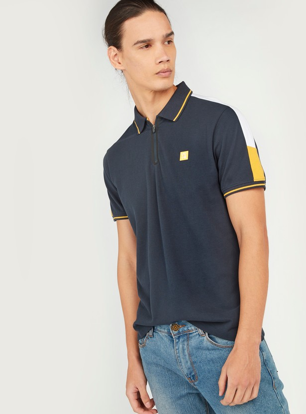 Printed Polo T-shirt with Short Sleeves