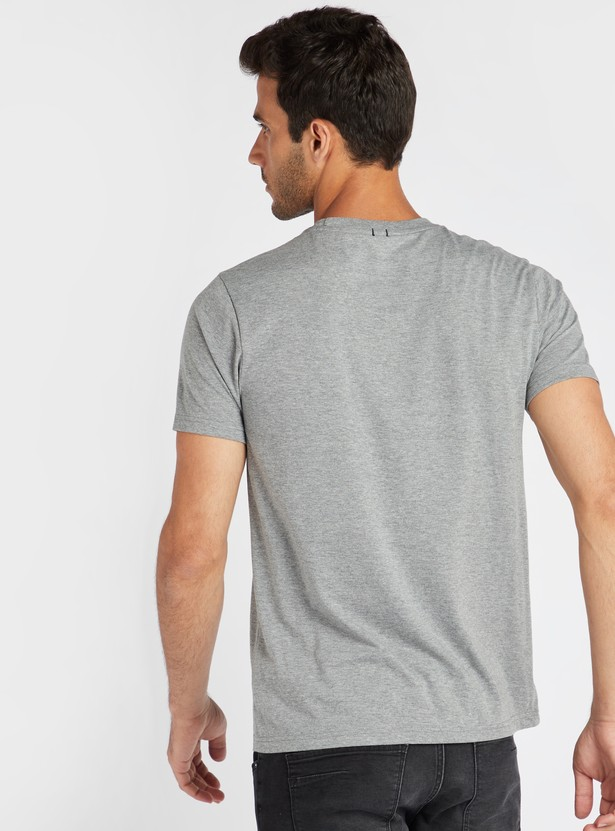 Brooklyn Print T-shirt with Round Neck and Short Sleeves