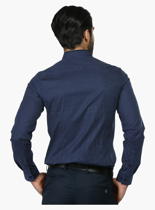 Printed Long Sleeves Formal Shirt in Slim Fit