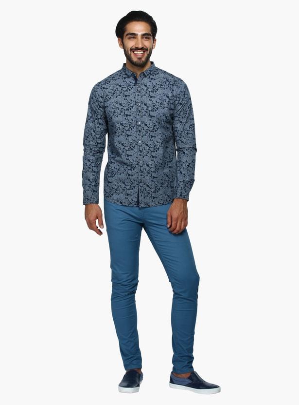 Printed Long Sleeves Casual Shirt in Slim Fit