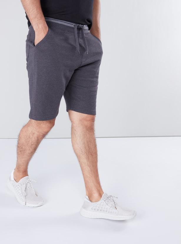 Pocket Detail Shorts with Drawstring Closure