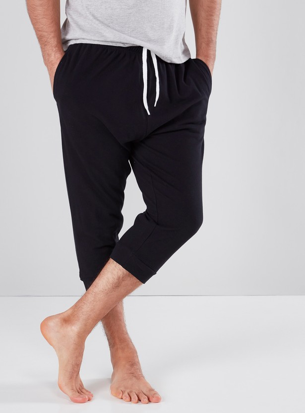 Pocket Detail Capris with Drawstring Waistband