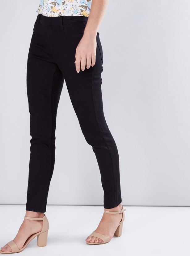 Full Length Skinny Jeggings with Elasticised Waistband