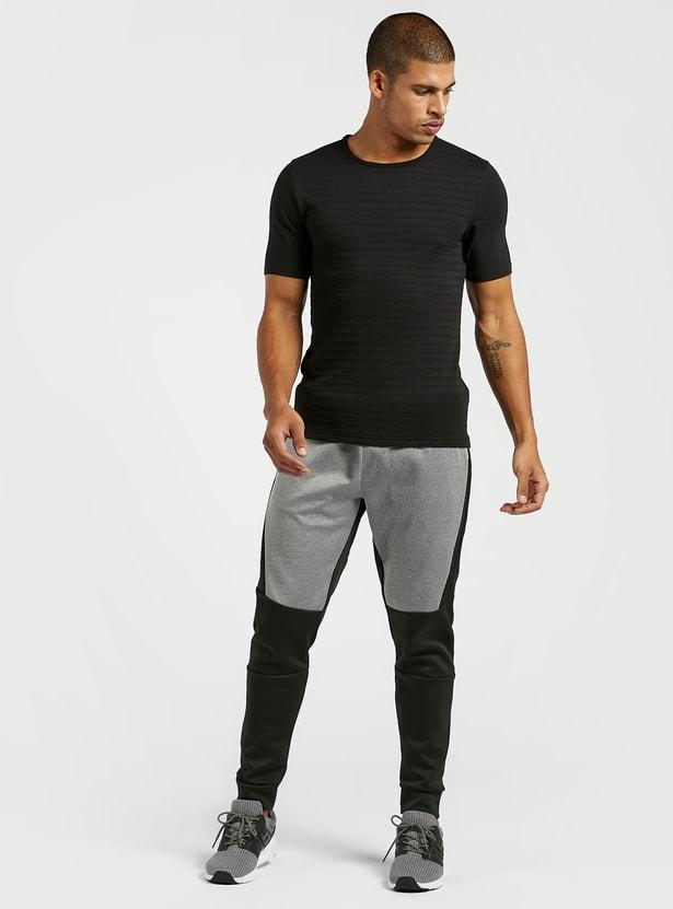 Panel Block Detail Jog Pants with Pockets and Drawstring
