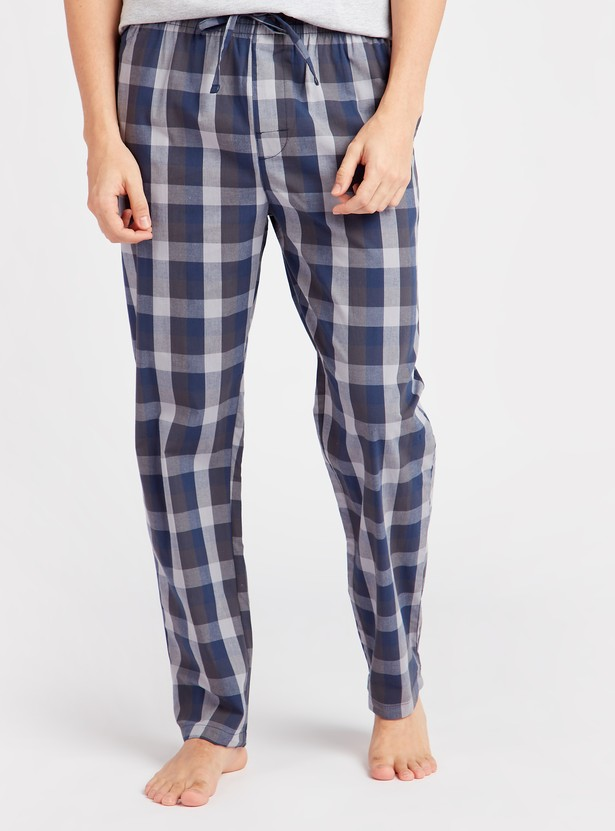 Chequered Full Length Pyjama with Pockets and Drawstring