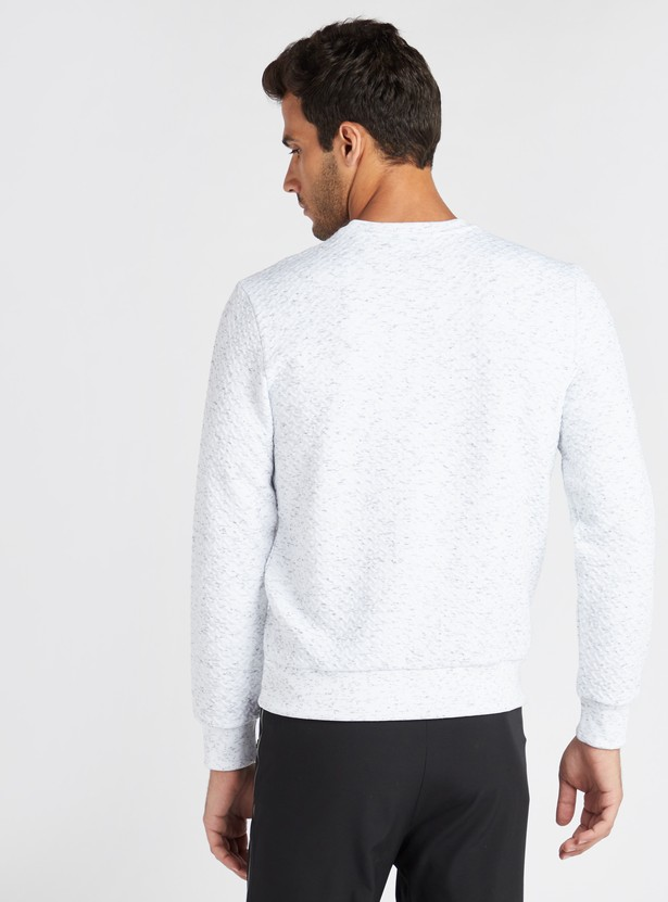 Embroidered Round Neck Sweatshirt with Long Sleeves