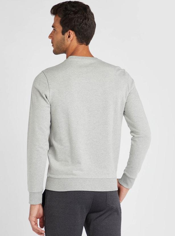 Slim Fit Tom & Jerry Print Sweatshirt with Long Sleeves