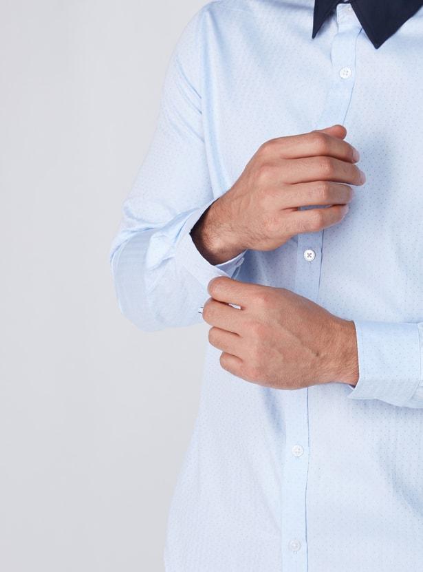 Printed Long Sleeves Formal Shirt
