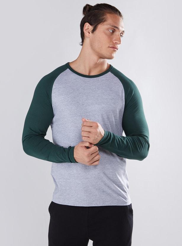 Round Neck T-Shirt with Raglan Sleeves