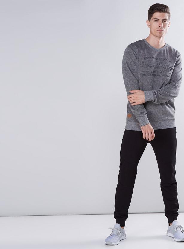 Textured Sweatshirt with Round Neck