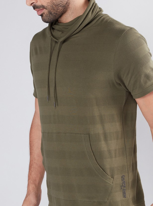 Textured T-Shirt with Short Sleeves