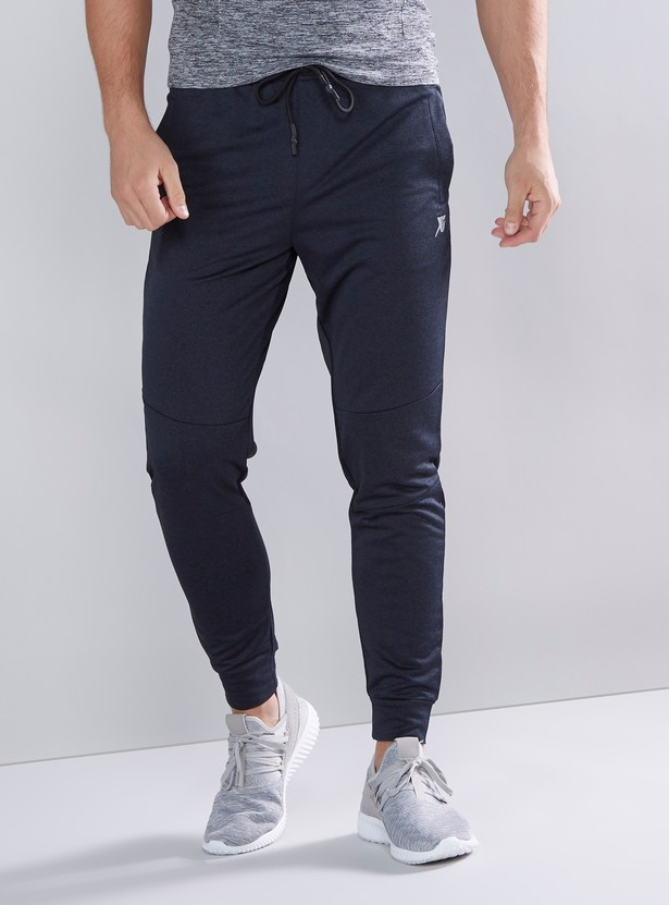 Full Length Plain Jog Pants with Pocket Detail and Drawstring