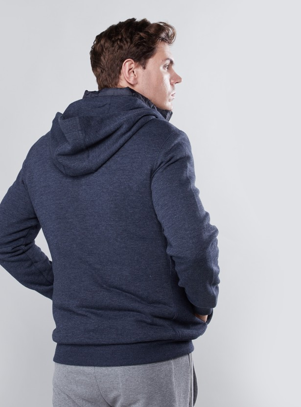 Plain Hoodie with Long Sleeves and Pockets