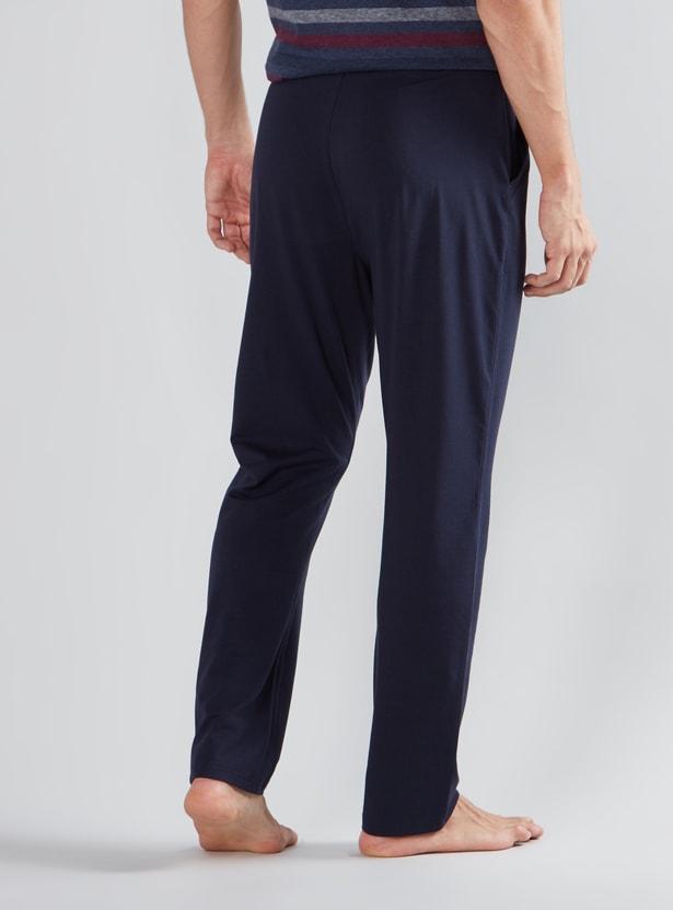 Solid Pyjama Pants with Drawstring Closure
