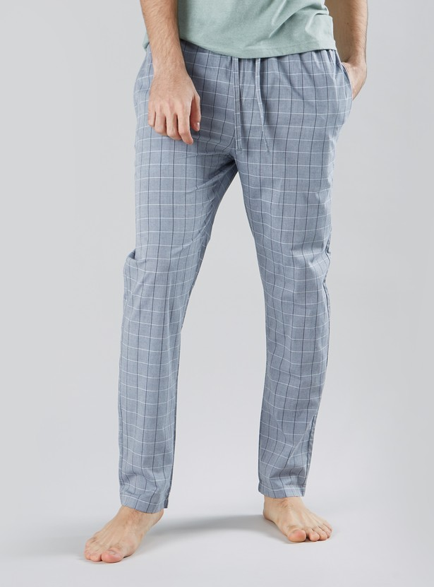 Checked Lounge Pyjamas with Drawstring Waistband and Pocket Detail