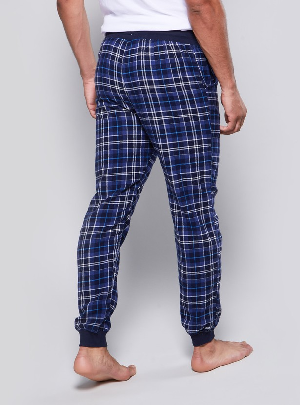 Checked Cuffed Pyjamas with Drawstring Waistband